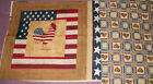 Daisy Kindom    American Flag Rooster   Panel and Backing  18 X 22    C1