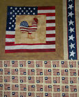 Daisy Kindom    American Flag Rooster   Panel and Backing  18 X 22   A1