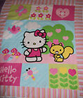 NEW  Hello Kitty with Squirrel and Flowers  Panel    35 X 43