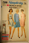 60s Vtg  SIMPLICITY 7506  sz 12 PATTERN retro style Era Eames A-line dress (1967
