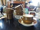 Set of 5 Fitz and Floyd RONDELET Cup and Saucer's Cognac or Brown