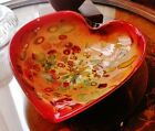 Large Heart Shaped Murano Tutti Frutti Cased Glass Bowl