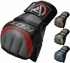RDX Leather Tech MMA UFC Grappling Gloves Fight Boxing Punch Bag Training Kick B