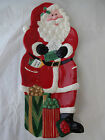 Fitz and Floyd Santa Claus Christmas Platter Snack Therapy Ceramic Candy Dish