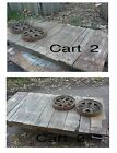 Antique Lineberry Factory Railroad Cart Steampunk Industrial Coffee Table
