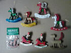 14 Wooden Christmas Ornaments Rocking Horse Soldiers Vintage