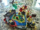 Lego Pirate Lot - Mini figures, boats, Weapons, Island Base, Shark, Monkey, More