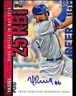 2015 Topps Yasiel Puig Career High auto autograph card Dodgers