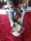 LIPPELSDORF GRAFENTHAL MAN PLAYING CELLO FIGURINE MARKED AND ALSO STAMPED 9486
