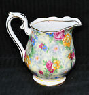 Vintage Royal Albert Porcelain Chintz Creamer Old Country Rose Gold Flowers