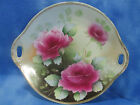 EG Royal Austria Porcelain Charger Hand Painted Roses Signed c.1900