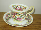 Vintage Royal Albert Cup & Saucer Primula Chintz Fragrance Flower Floral Footed