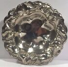 6 Art Nouveau Sterling Silver Nut Dishes Small Trays Floral Flower Repousse Bee