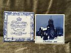 Vintage Delft Christmas Tile 1979 Blue Collectors Holiday Ceramic W/ Orig Sleeve