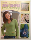 Sew Simple Embroidery 17 Projects by Patti Uhiren Leisure Arts Patterns Pillows