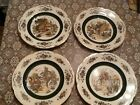 Vintage Wood and Sons England Ascot Service Decorative Plate Set Of 4 Ironstone