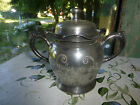 Shabby Vtg Columbia Silver Co. Sugar Bowl with Lid Quadruple Plate Etched Chic