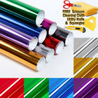 Chrome Mirror Vinyl Film Wrap Sticker Decal Stretchable Reflective Super Gloss