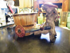 Vintage Majolica Italian Art Pottery Donkey and Cart Caretto Planter Bowl