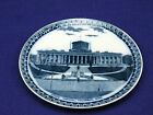 Antq. Blue & White Beardmore & Co., England, Plate, State Capitol Building, Ohio