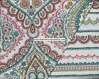 MOROCCAN Medallion FLORAL KING QUILT 3pc PINK YELLOW GREEN ORANGE PAISLEY