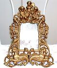 ART DECO / NOUVEAU PICTURE FRAME-CHERUBS SEAHORSES-GOLD -GILT