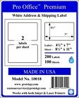 Premium Shipping Labels Self Adhesive Half Sheet Ebay 7 X 4.5 Pro Office