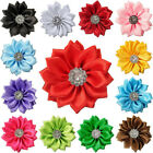 10 30pcs Satin Ribbon Flowers Bows with Appliques Sewing DIY Craft Wedding