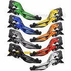 CNC Folding Extending Clutch Brake Levers Pair Adjustable Customize Color T6061