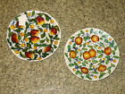 Lot of 2 Decorative Plates hand painted in Italy, Montelupo Tuscany, near Deruta