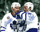 Toronto Maple Leafs Wendel Clark Doug Gilmour Leafs 16x20 Photo Dual Signed NHL