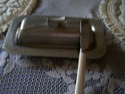 Floral hammered Everlast Forged Aluminum Butter Dish with knife