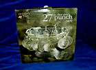 Holiday Time Punch Bowl Set 27pc Clear Glass