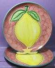 RETRO STUDIO NOVA HAND PAINTED PATTERN FRULOS FRUITS DINNER PLATE 2 SIZE 10