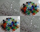 3MM or 4MM Bicone Glass or Acrylic Beads Clear or Mixed Colors 100 pcs US Seller