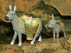 Donkey Animal Figurines for 35 Nativity Scene Village Animales para Pesebre