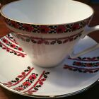 Edelstein Bavaria Unique Tea Cup, White, Black and Red Pattern EDE24