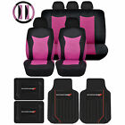 Rubber Floor Mats Speed Seat Covers Black Steering Universal Set For Dodge