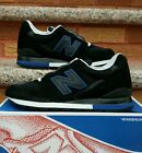 Mens Black and Royal Blue New Balance 996 Sneakers Size 85D Made in USA