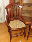 Pair--Victorian Cane-Seated Chairs/New Seats