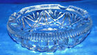 Mid Century Heavy Cut Glass Lead Crystal Ash Tray, clear glass with 8 pointed st