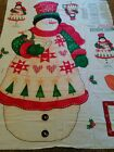 Daisy Kingdom Snuggle Up Door Panel Snowman with goose wall hanging appliques