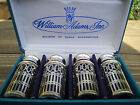 Pepper Shaker Set Towle Blue Glass Silver Japan Unused