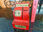 's 60's Uncle Sams 3 Coin Cash Register Bank Red WESTERN STAMPING CORP.