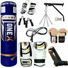 15 Piece Boxing Set 3 4 5ft Filled Heavy Punch Bag GlovesChainsBracketKick
