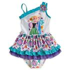 Elsa One-piece Swimsuit For Girls Sz 4