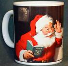 SAKURA CHRIStMAS Coffee Mug: COCA COLA SANTA With List - EUC