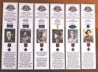 WW1 Victoria Cross recipients from South Australian Btns, Set of 6 bookmarks