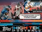 2015 Topps High Tek Football sealed unopened hobby box 1 pack of 8 cards 1 auto