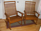 GORGEOUS PAIR OF ZIGLAR OAK ROCKING CHAIRS! ABSOLUTELY PERFECT!!